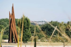 Bernar Venet Nine Unequal Angles - Artworks and Sculptures in Cornwall - Sculpture Park and Gardens