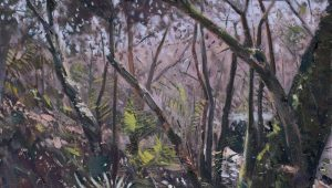 Gary Long, Tremenheere Walk, oil on canvas, h. 41 x w. 41 cm, £980 - Exhibition at Tremenheere Gallery, Cornwall