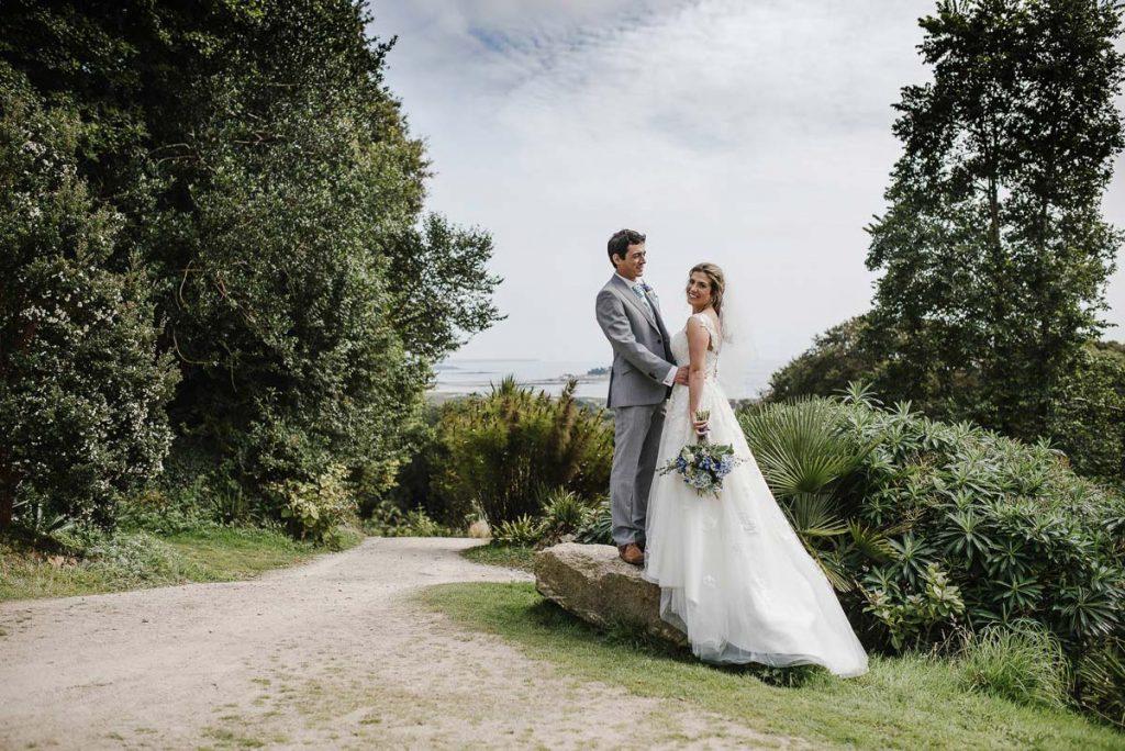Sea Views - Garden Wedding Venue in Cornwall - Tremenheere Sculpture Gardens, Penzance.
