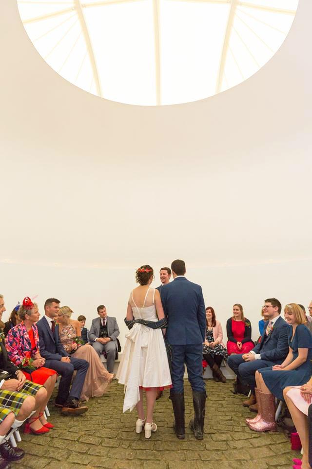 Art -Skyspace Wedding Venue in Cornwall - Tremenheere Sculpture Gardens, Penzance.