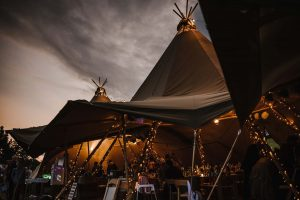 Marquee Outdoor Wedding Venue in Cornwall - Tremenheere Sculpture Gardens, Penzance.